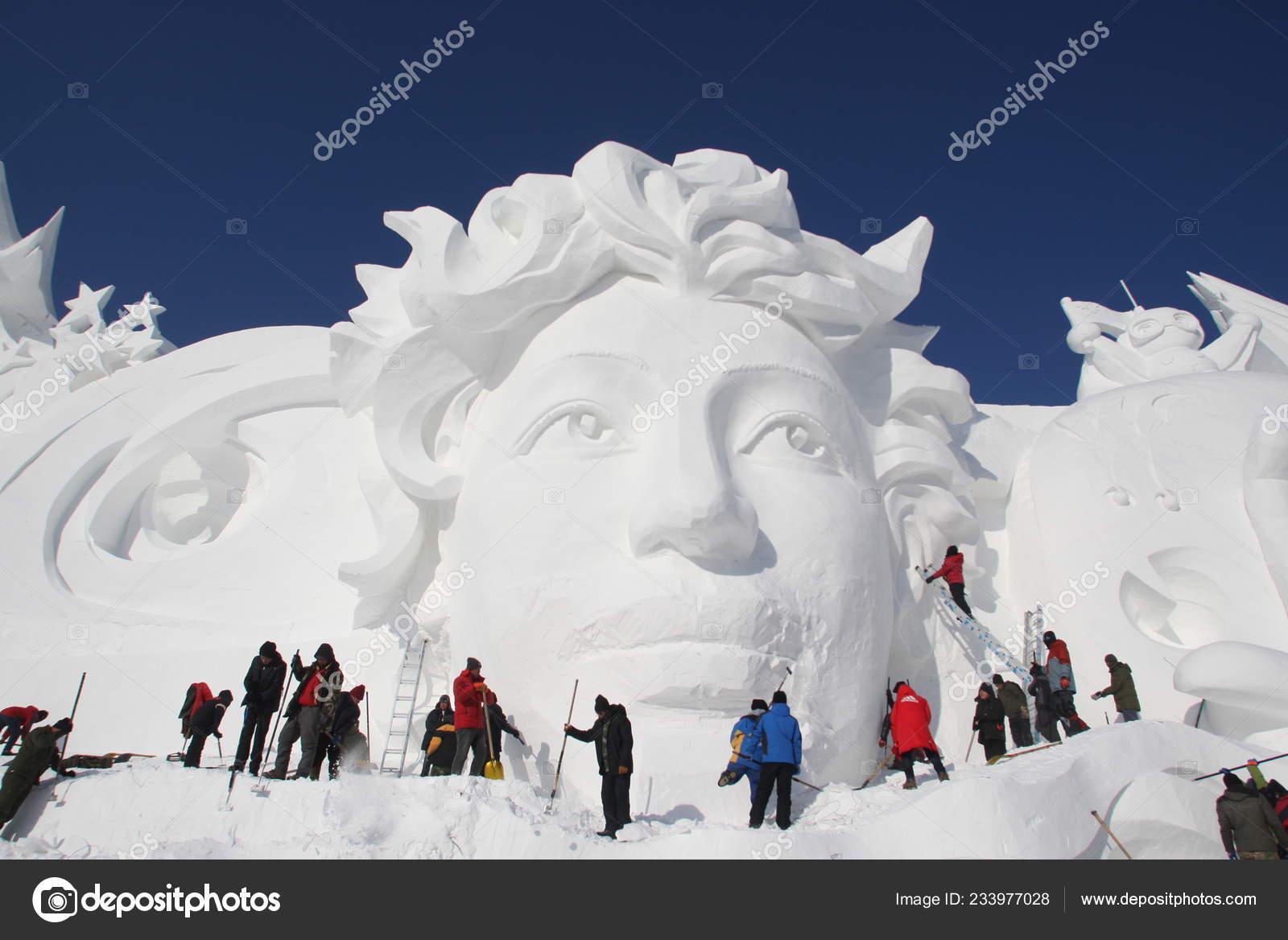 Artists Sculptors Work Main Snow Sculpture 31St Harbin Sun Island