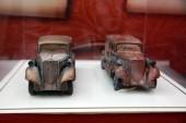 Készítette: híres chocolatier Nyikolaj Popov csokoládé művészeti alkotások vannak egy különleges csokoládé kiállítás Shenyang város, Észak-kínai Liaoning tartományban, 2018. október 1.