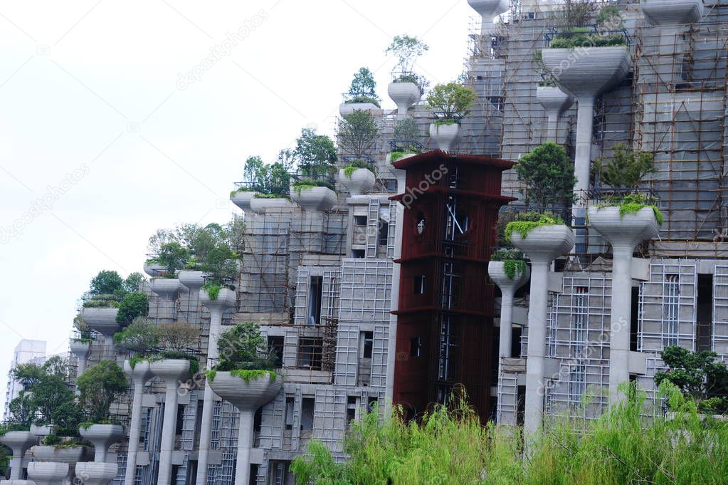 Una Vista De Edificios De Gran Altura Con Terrazas De Diferentes