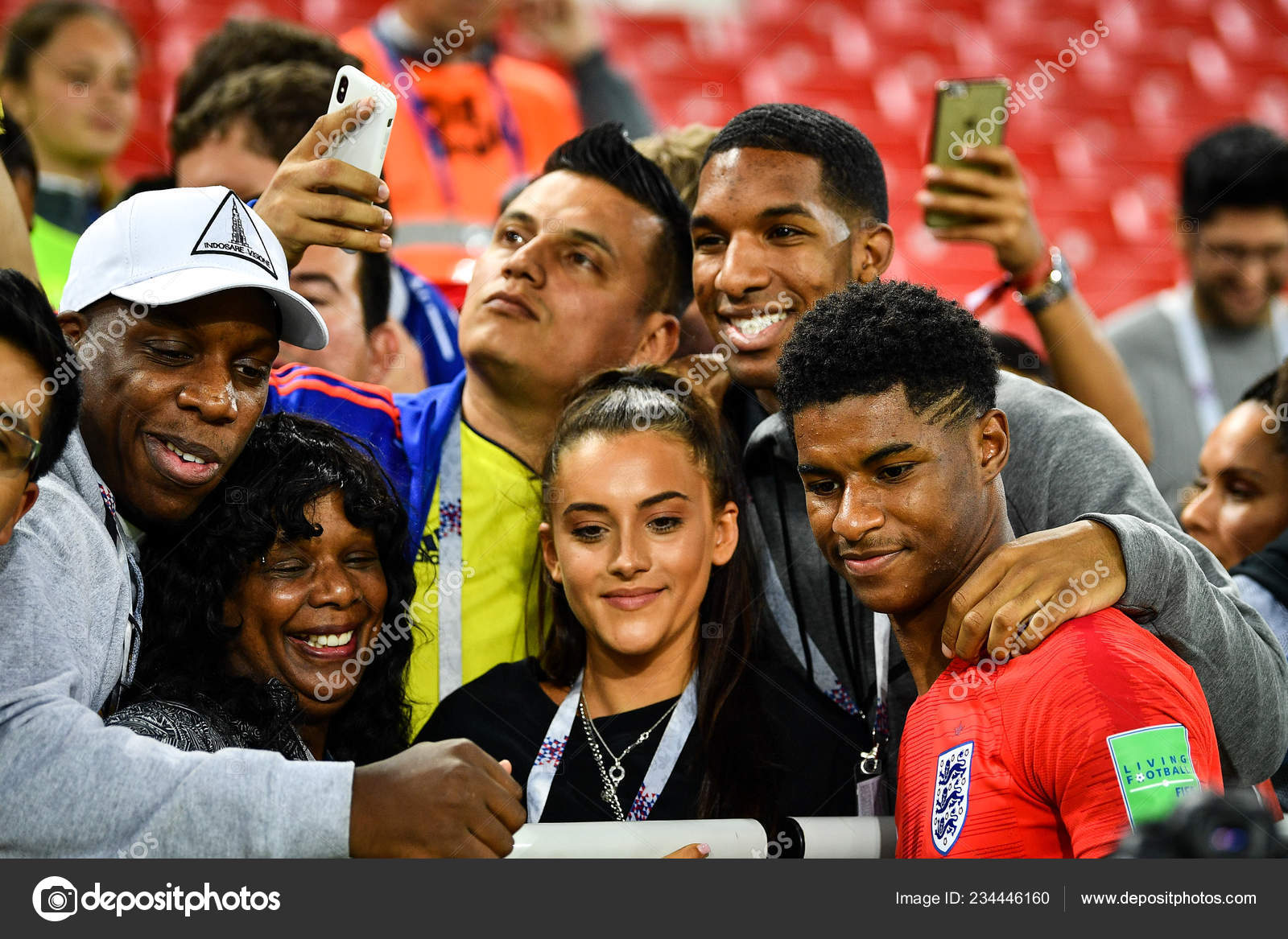 Marcus Rashford England Celebrates His Families Friends Defeating Columbia Match Stock Editorial Photo C Chinaimages 234446160