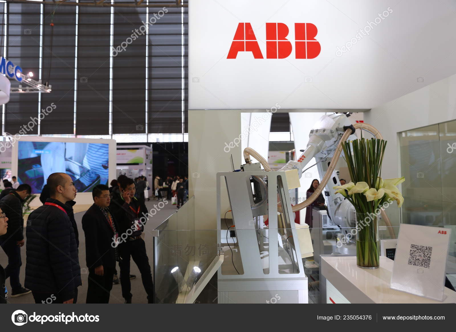 People Visit Stand Swiss Engineering Group Company Abb