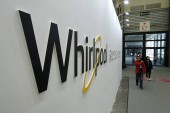 People visit the stand of American home appliance manufacturer Whirlpool Corporation during the Appliance  Electronics World Expo 2018 (AWE 2018) in Shanghai, China, 9 March 2018.