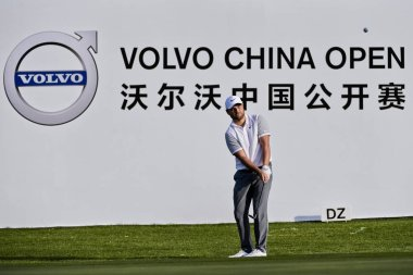 Jordan Smith of England competes in the second round of the 2018 Volvo China Open golf tournament in Beijing, China, 27 April 2018.