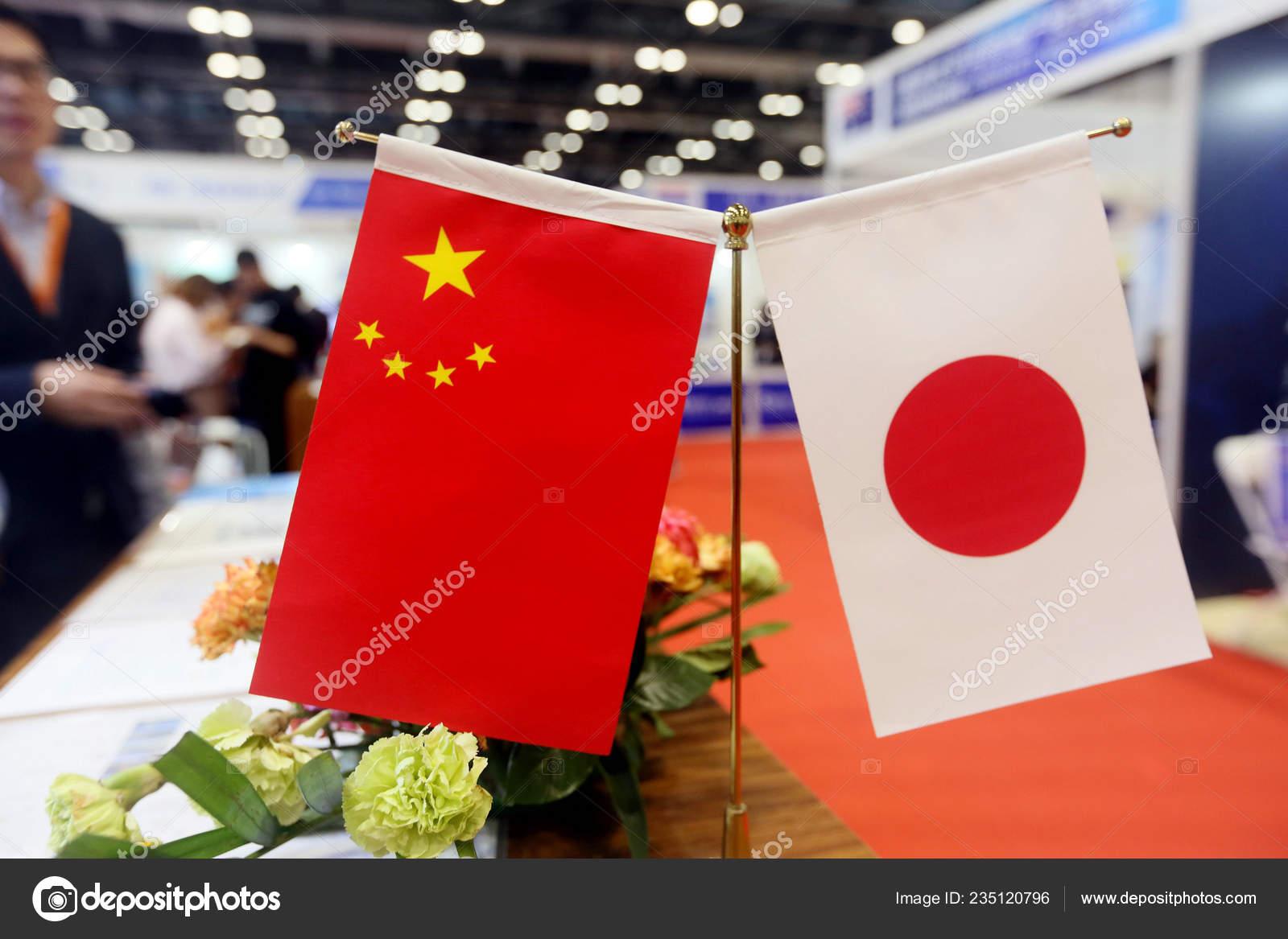 Flags China Japan Display Real Estate Fair Beijing China October Stock Editorial Photo C Chinaimages 235120796