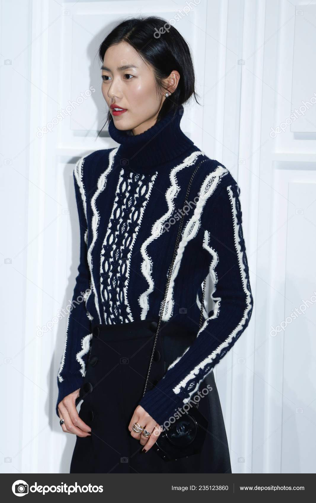 Chinese Model Liu Wen Attends Promotional Event Chanel Coco
