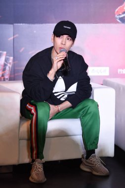 Hong Kong singer and actor Jackson Wang of South Korean boy group GOT7 attends a press conference for the reality talent TV show
