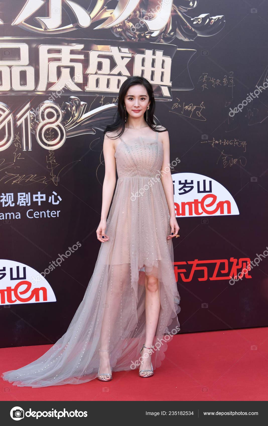 Actriz China Yang Llega Alfombra Roja Para Drama Awards Por — Foto