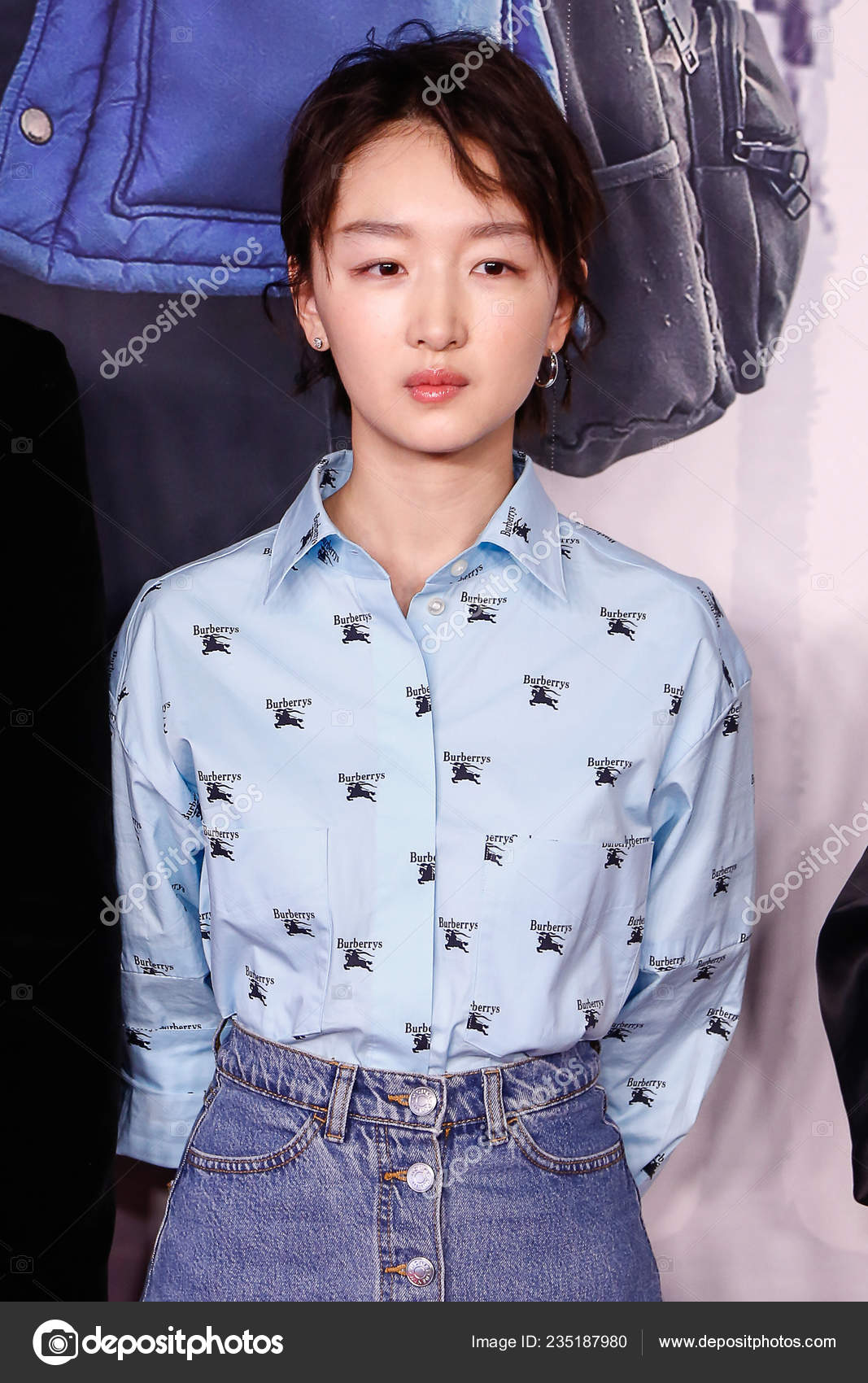 Chinese Actress Zhou Dongyu Attends Premiere Event Film Them Beijing Stock Editorial Photo C Chinaimages 235187980