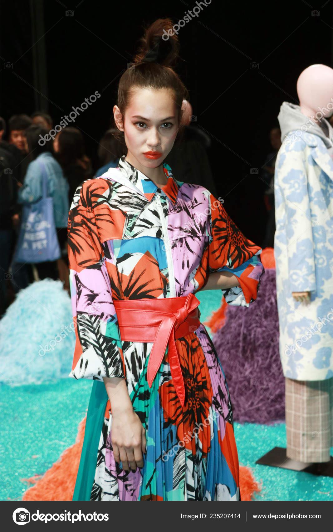 Japanese Model Actress Kiko Mizuhara Poses Fashion Show