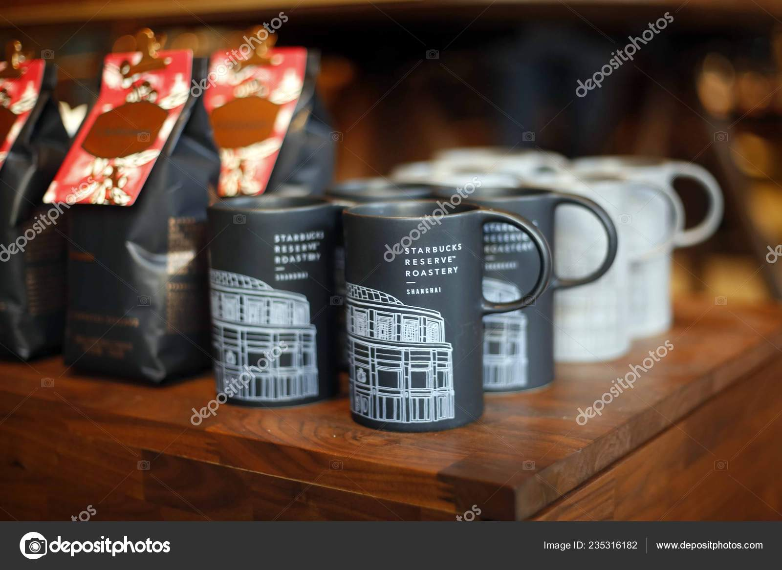 Cups Mugs Sale World Largest Starbucks Reserve Roastery Shanghai China Stock Editorial Photo C Chinaimages 235316182