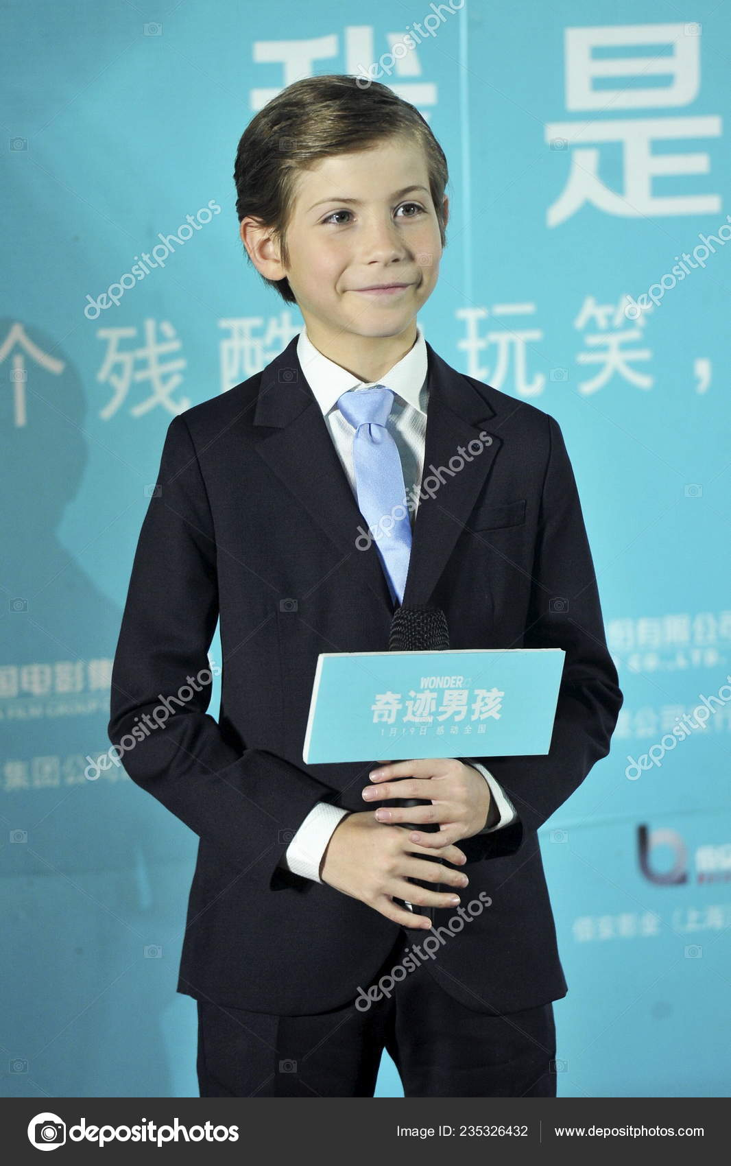 Canadian Actor Jacob Tremblay Attends Press Conference Promote His New Stock Editorial Photo C Chinaimages 235326432