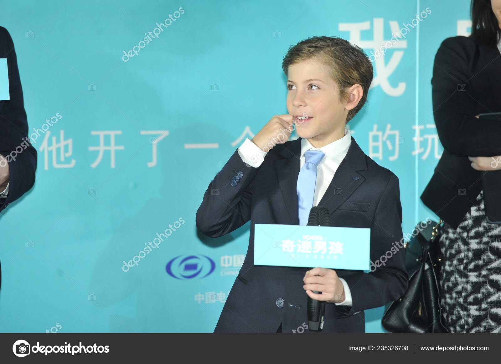 Canadian Actor Jacob Tremblay Attends Press Conference Promote His New Stock Editorial Photo C Chinaimages 235326708