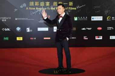 Hong Kong actor Donnie Yen or Yen Chi-tan arrives on the red carpet for the closing ceremony of the 2nd International Film Festival & Awards Macao in Macau, China, 14 December 2017.