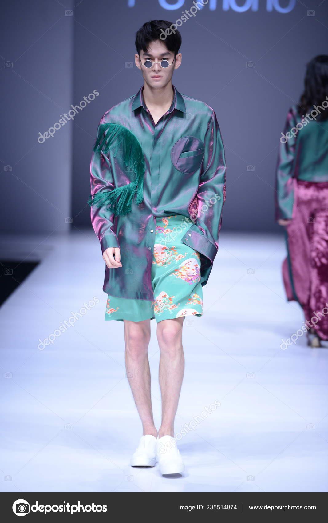 Model Displays New Creation Fashion Show Mono Liang Yan
