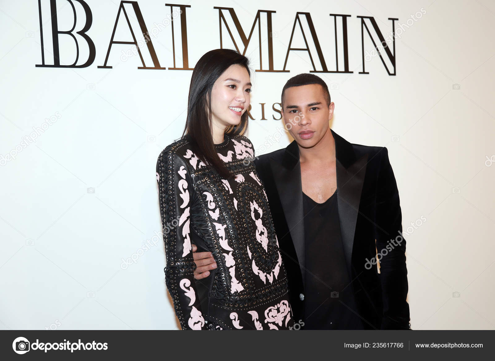 French Fashion Designer Olivier Rousteing Right Creative Director Balmain Chinese Stock Editorial Photo C Chinaimages 235617766