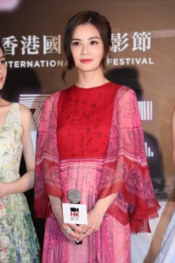 Singer and actress Charlene Choi of Hong Kong pop duo Twins attends at a premiere for her movie