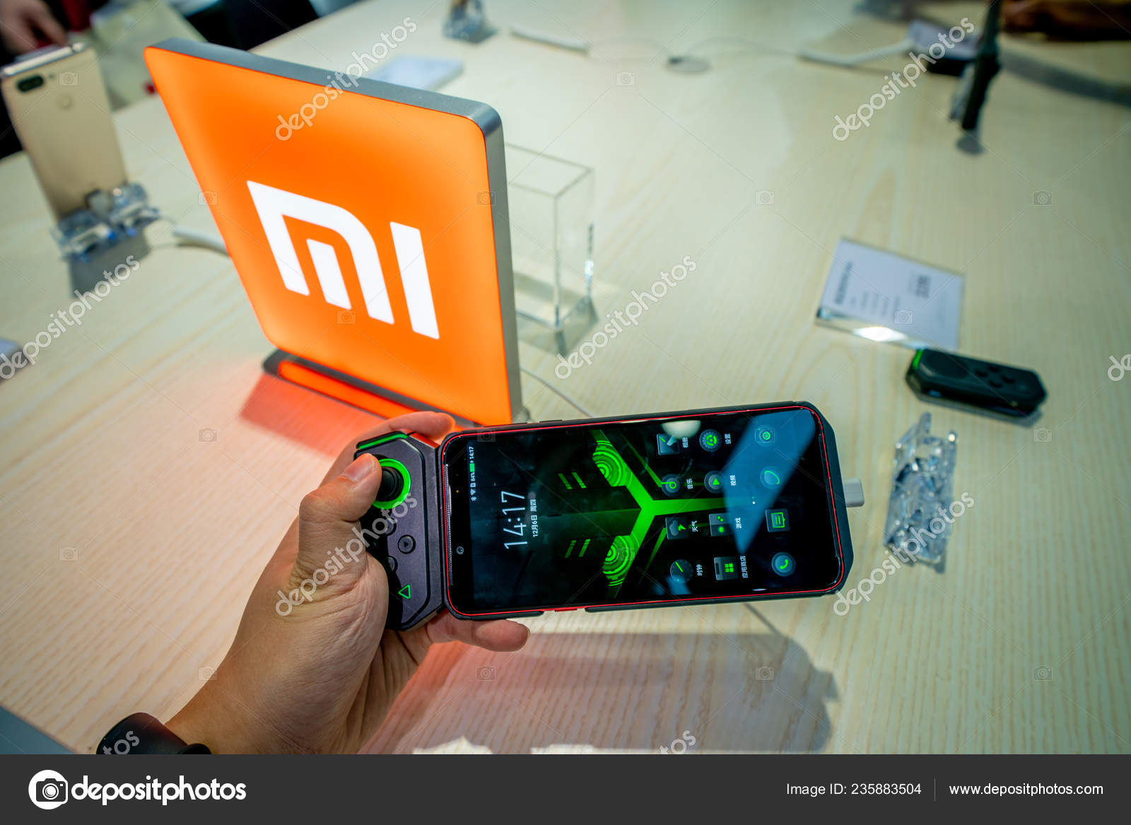 Visitor Seen Stand Xiaomi 2018 China Mobile Global Partner