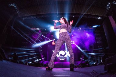 English singer Charlotte Emma Aitchison, better known by her stage name Charli XCX, performs during the Spring Festival Gala of the Jiahao Group in Shanghai, China, 10 January 2017.