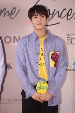 Lee Min-hyuk of South Korean boy group BTOB attends a press conference for