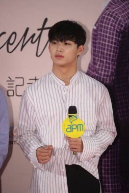 Im Hyun-sik of South Korean boy group BTOB attends a press conference for