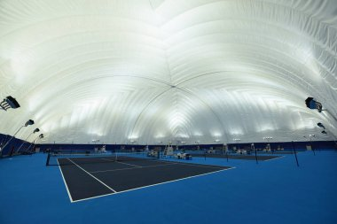 Interior view of the domed smog-free indoor stadium at Zhejiang University in Hangzhou city, east China's Zhejiang province, 17 August 2017
