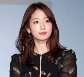Die südkoreanische Schauspielerin Park shin-hye nimmt an einer Pressekonferenz zur Förderung der Shampoo-Marke ryo in Taipeh, Taiwan, am 26. September 2017 teil.