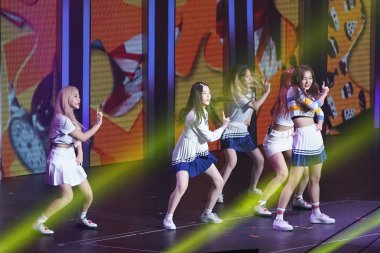 Members of South Korean girl group Red Velvet perform during the SMtown Special Stage in Hong Kong at the Hong Kong Coliseum in Hong Kong, China, 5 August 2017.