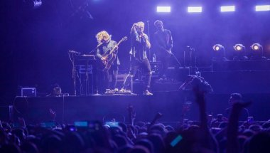 American pop rock band OneRepublic performs at its concert in Shanghai, China, 27 September 2017.