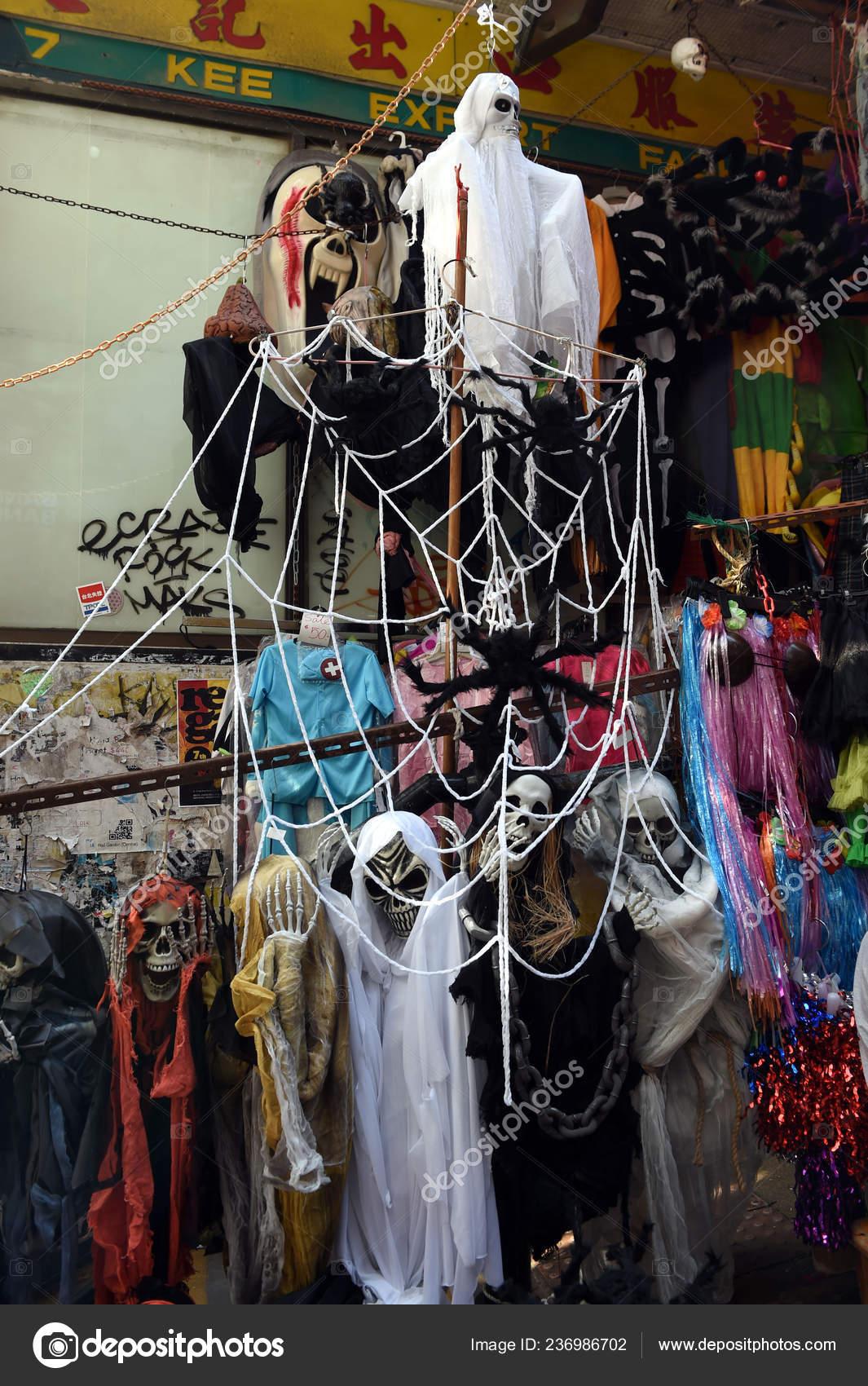 Halloween Shop Displays.Scary Decorations Display Upcoming Halloween Shop Hong Kong China