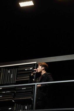 Hong Kong singer and actor Jackson Wang of South Korean boy group GOT7 performs at the Fendi fashion show during the Milan Men's Fashion Week Fall/Winter 2019 in Milan, Italy, 14 January 2019.