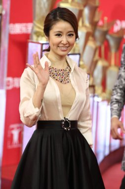 Taiwanese actress Ruby Lin arrives on the red carpet for the opening ceremony of the 19th Shanghai International Film Festival in Shanghai, China, 11 June 2016
