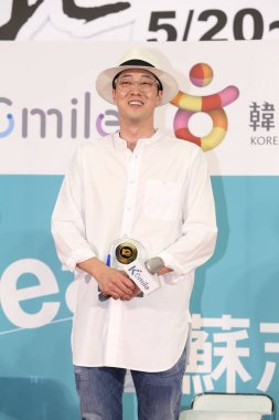 South Korean actor So Ji-sub attends a promotional event for tourism in Korea during the 2016 Taipei Tourism Expo in Taipei, Taiwan, 21 May 2016.