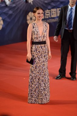 American actress Natalie Portman arrives on the red carpet for the opening ceremony of the Sixth Beijing International Film Festival in Beijing, China, 16 April 2016.