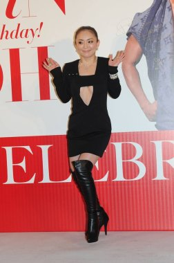 Japanese singer Ayumi Hamasaki poses at a celebration event for her stylist friend Alvin Goh's birthday in Hong Kong, China, 22 February 2016.