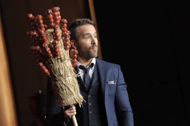 Canadian-American actor Ryan Reynolds attends the China press conference for his new movie