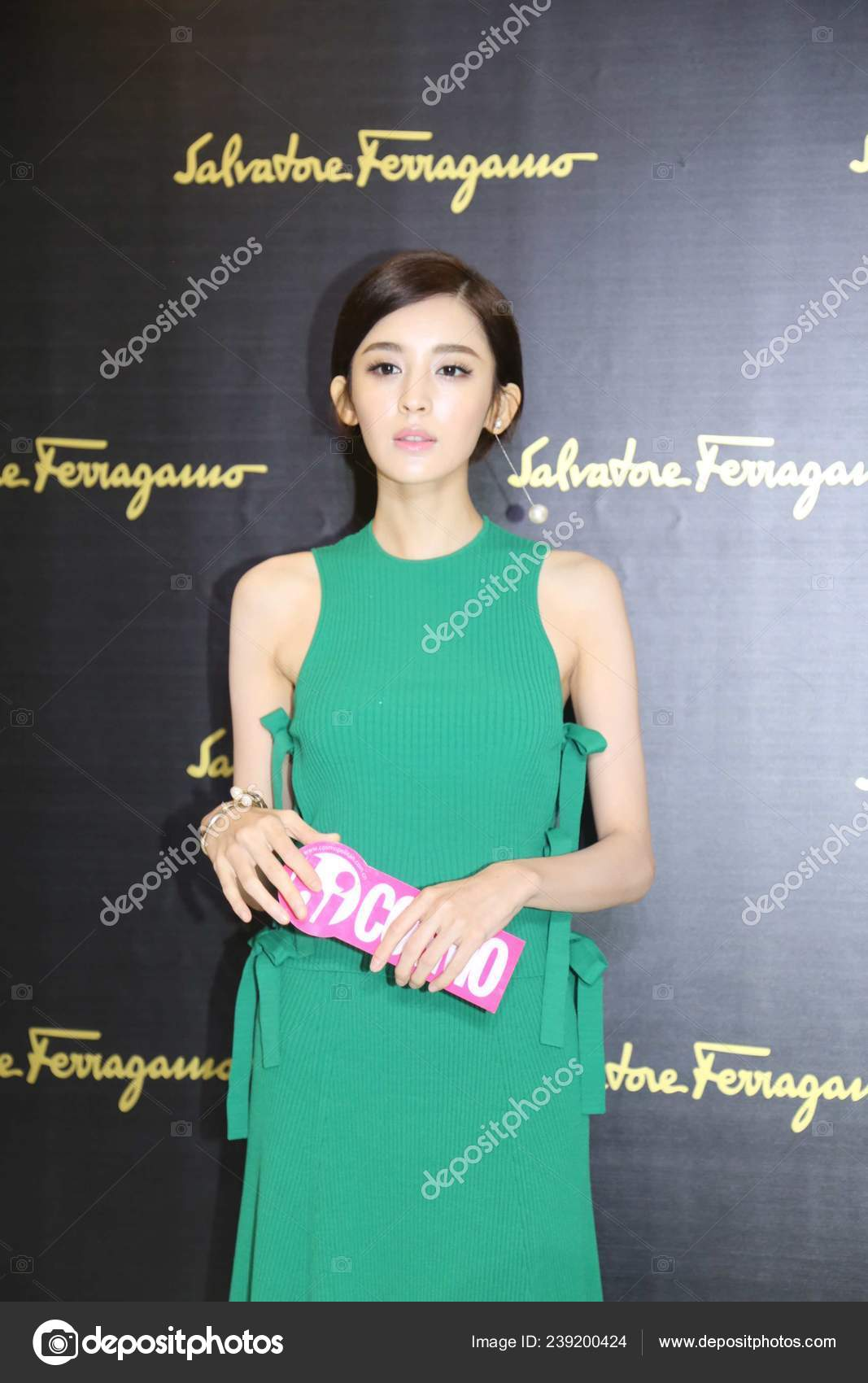 Chinese Actress Gulnazar Attends Fashion Show Salvatore Ferragamo Milan Fashion Stock Editorial Photo C Chinaimages 239200424
