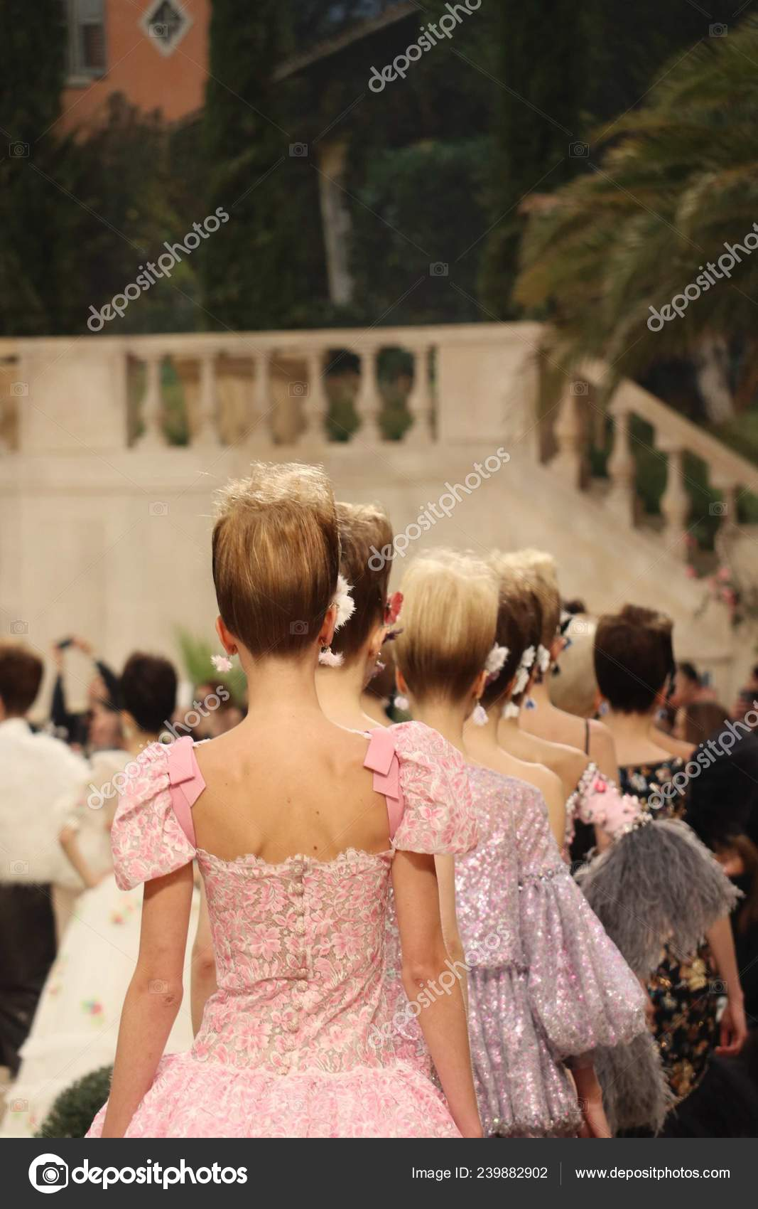 Models Display New Creations Chanel Fashion Show Paris Haute Couture Stock Editorial Photo C Chinaimages 239882902