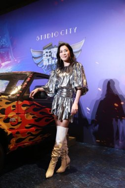 **CAPTION CORRECTION**Hong Kong actress Charmaine Sheh Sze-man arrives for the electrifying stage show