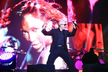 American rapper Armando Christian Perez, better known by his stage name Pitbull, performs during the Shanghai concert of his world tour in Shanghai, China, 7 April 2015.