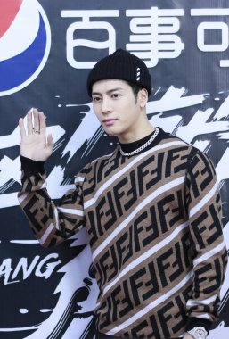 Hong Kong singer and actor Jackson Wang of South Korean boy group GOT7 receives an interview for a variety show in Shanghai, China, 29 January 2019.