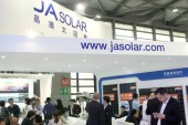People visit the stand of JA Solar during the SNEC (2014) International Photovoltaic Power Generation Conference  Exhibition, known as SNEC PV Power Expo 2014, in Shanghai, China, 21 May 2014