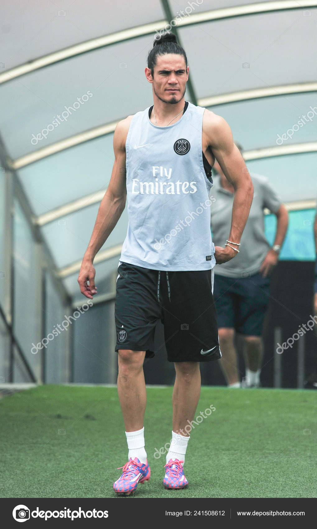 Edinson Cavani Paris Saint Germain Football Club Attends Training Session Stock Editorial Photo C Chinaimages 241508612