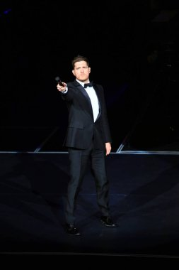 Canadian singer Michael Buble performs at his concert in Shanghai, China, 13 January 2015.