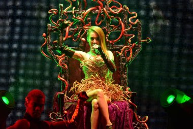 Taiwanese singer Jolin Tsai performs at a concert for her new music album