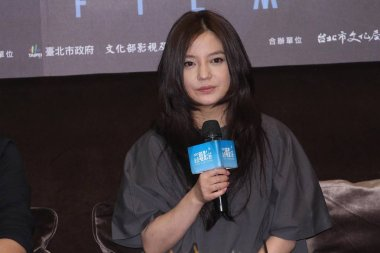 Chinese actress and director Zhao Wei speaks during a press conference for her new movie, To Our Youth That is Fading Away, in Taipei, Taiwan, 9 July 2013.