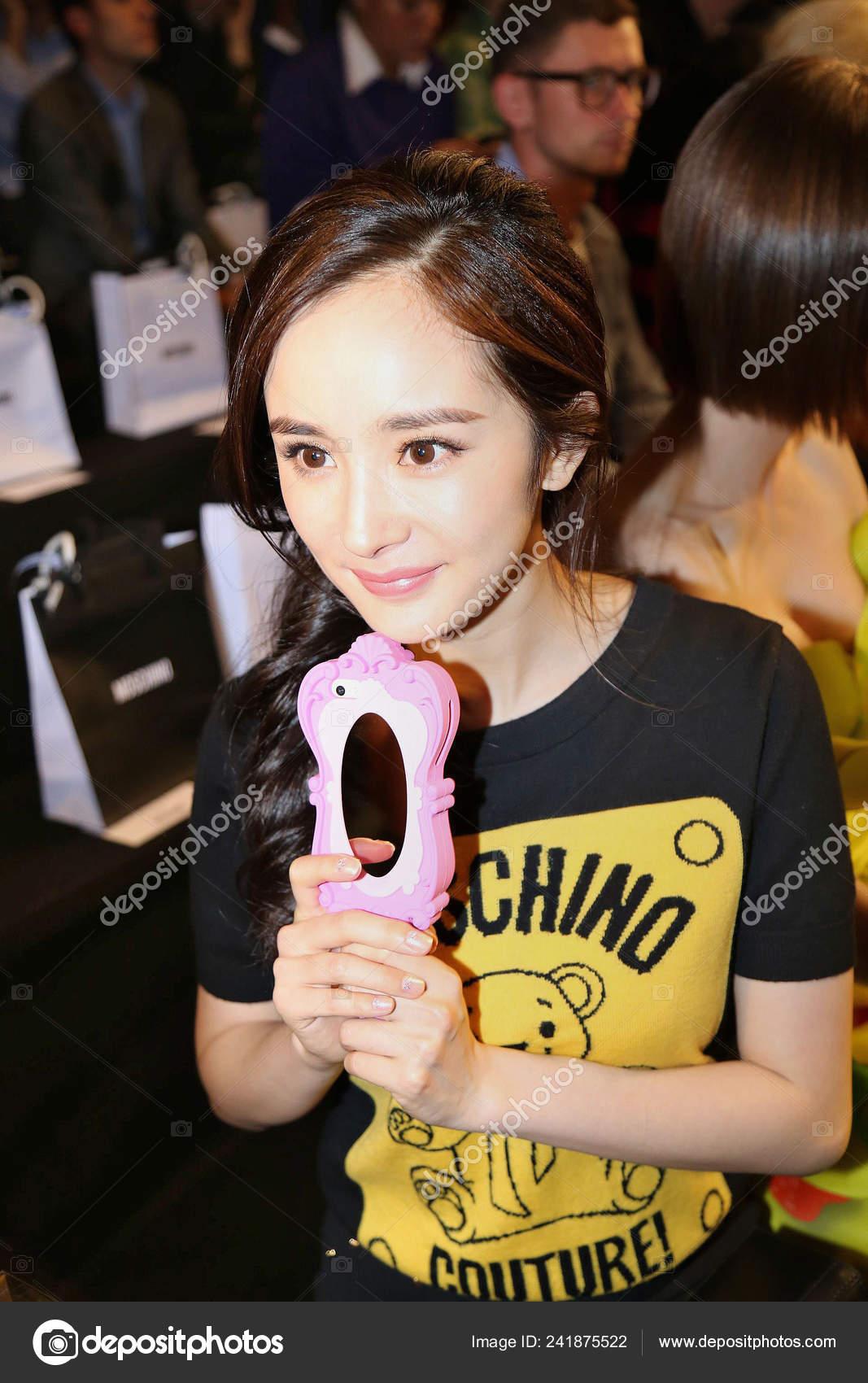 Chinese Actress Yang Poses Moschino Fashion Show Milan Fashion Week Stock Editorial Photo C Chinaimages 241875522