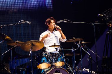 South Korean band CNBlue performs at the Nanjing concert of their