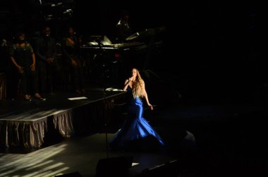 American singer Mariah Carey performs at her concert in Shanghai, China, 19 October 2014.