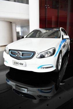 A Senova C90 EV of BAIC Motor is displayed at the research and development center of BAIC Motor in Beijing, China, 6 November 2014.