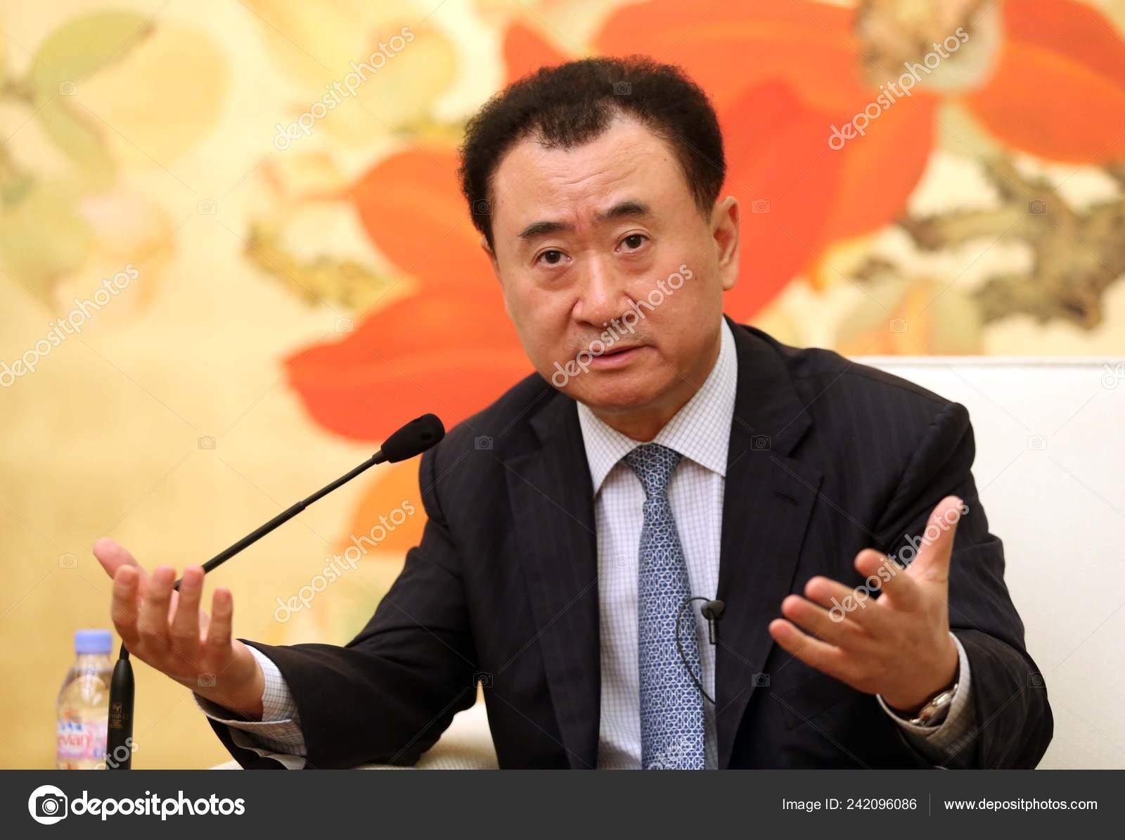 Wang Jianlin Chairman Wanda Group Answers Question Interview